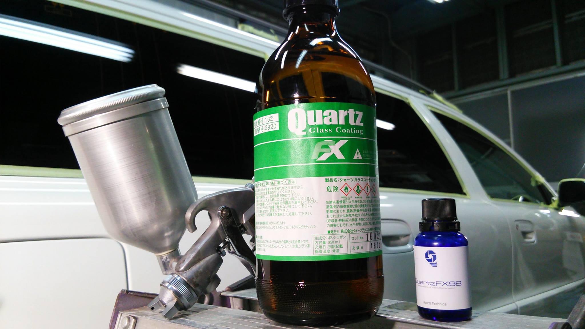 ガラスコーティング、吹付用薬剤と手塗り用薬剤